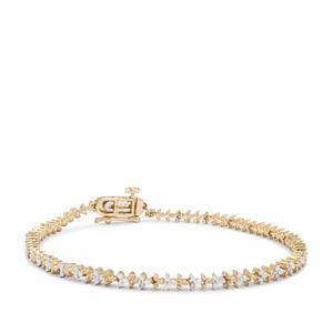 Natural Diamond Bracelet in 9K Gold 0.51ct