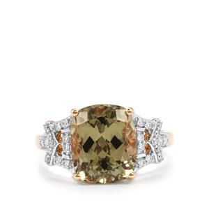 Csarite® Ring with Diamond in 18K Gold 5.14cts