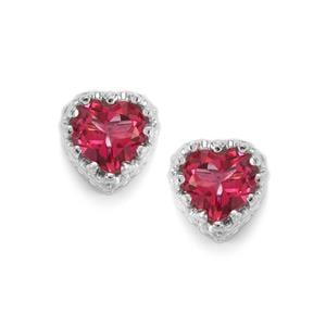 1.84ct Mystic Pink Topaz Sterling Silver Earrings