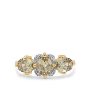 Csarite® & Diamond 9K Gold Ring ATGW 2.55cts