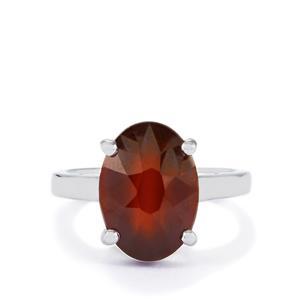 7.19ct Ciana Hessonite Garnet Sterling Silver Ring