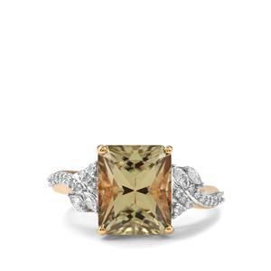 Csarite® & Diamond 18K Gold Lorique Ring MTGW 5.06cts