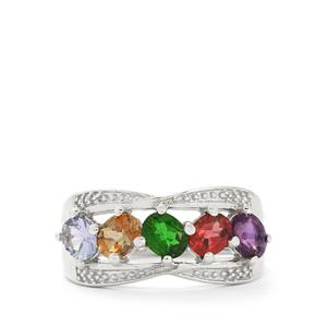 1.87ct Exotic Gems Sterling Silver Ring