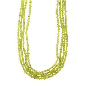 Hunan Peridot Nugget Necklace 290cts