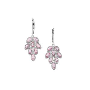 Sakaraha Pink Sapphire Earrings in Sterling Silver 4.92cts