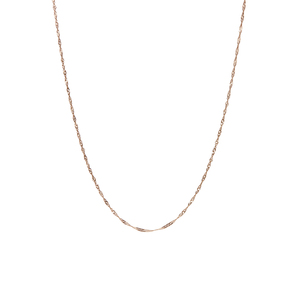 """18"""" 9K Gold Couture Singapore Chain 0.60g"""