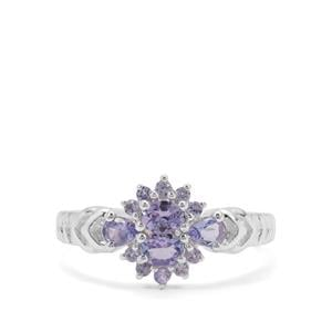 0.79ct Tanzanite Sterling Silver Ring