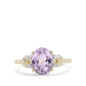 Kolum Kunzite Ring with Diamond in 9K Gold 2.63cts