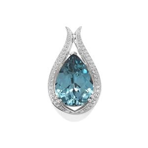 Versailles Topaz Pendant with White Topaz in Sterling Silver 9.46cts