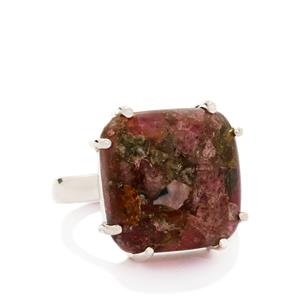 15.00ct Fusion Tourmaline Sterling Silver Ring