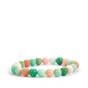 Multi-Colour Western Australian Opal Bracelet Chrysoprase 70cts