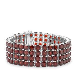 104.04ct Rajasthan Garnet Sterling Silver Bracelet