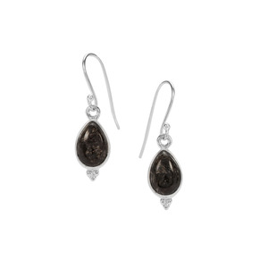 6.50ct Midnight Seraphinite Sterling Silver Indus Valley Earrings