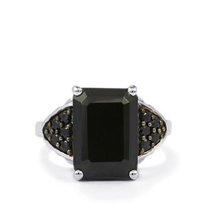 10.47ct Black Spinel Sterling Silver Ring