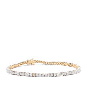 Diamond Bracelet in 9K Gold 3.44ct