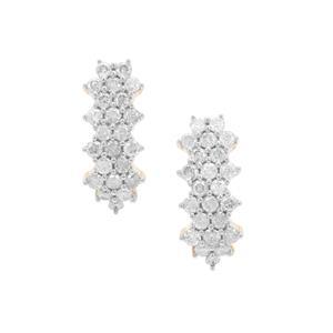 1ct GH White Diamond 9K Gold Earrings