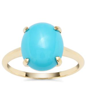 Sleeping Beauty Turquoise Ring in 9K Gold 3.76cts