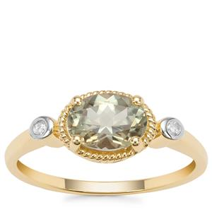Csarite® Ring with Diamond in 9K Gold 1.31cts