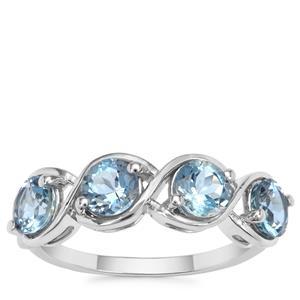 Nigerian Aquamarine Ring in 9K White Gold 1.70cts