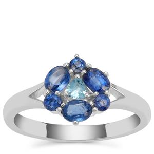 Nilamani Ring with Swiss Blue Topaz in Sterling Silver 1.19cts