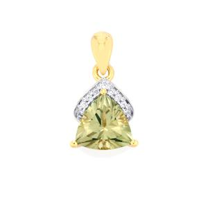Csarite® Pendant with Diamond in 18k Gold 2.09cts