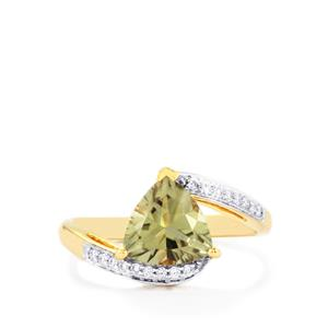 Csarite® & Diamond 18K Gold Ring MTGW 2.16cts