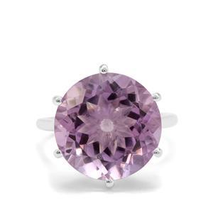 11.20ct Rose De France Amethyst Sterling Silver Ring