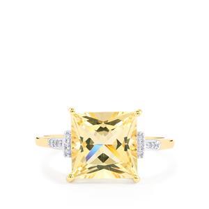 Serenite & Diamond 10K Gold Ring ATGW 3.15cts
