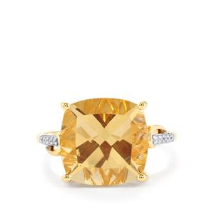 Serenite Ring with Diamond in 14k Gold 6.43cts