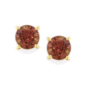 Bekily Colour Change Garnet Earrings in 9K Gold 1.26cts