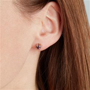 Bekily Color Change Garnet Earrings in 10k Gold 1.26cts