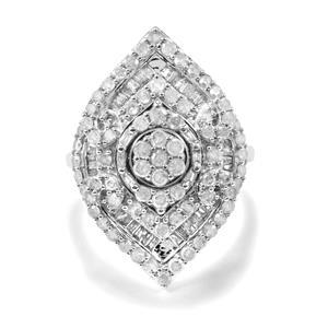 1.70ct Diamond 10K White Gold Tomas Rae Ring