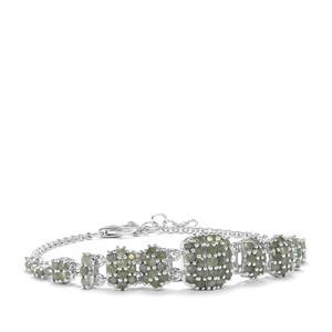 Alexandrite Bracelet in Sterling Silver 3.51cts