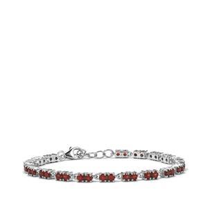 5.66ct Nampula Garnet Sterling Silver Bracelet
