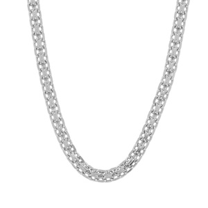 "22"" Sterling Silver Dettaglio Diamond Cut Bismark Chain 3.79g"