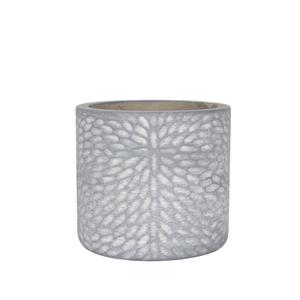 Grey Textured Terracotta Plant Pot