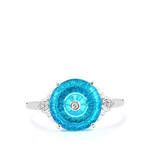 Lehrer TorusRing Batalha Topaz & Diamond 10K White Gold Ring ATGW 3.48cts