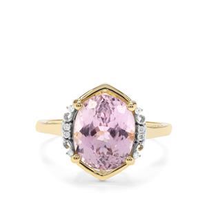 Kolum Kunzite & Diamond 9K Gold Ring ATGW 4.77cts