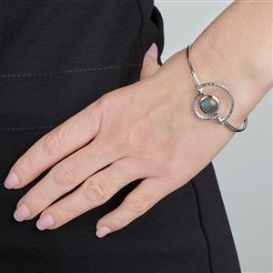 Labradorite Bangle  in Sterling Silver 3.82ct