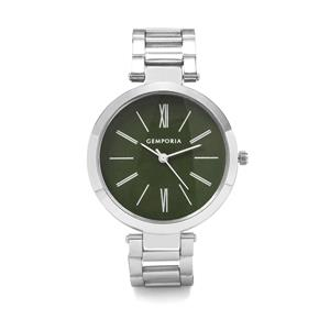 Silver Case, Green Dial Watch With adjustable Alloy Chain Analog Display (HC21) (Lww-Alc-iv-040707)