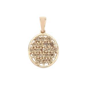Menarandra Garnet Pendant in 10K Gold 1.50cts