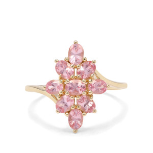 1.65ct Mozambique Pink Spinel 9K Gold Ring