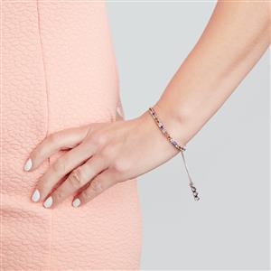 Kaleidscope Gemstones Bracelet in Sterling Silver 4.56cts