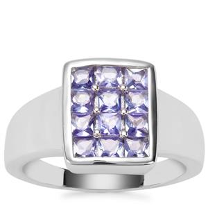 Tanzanite Ring in Sterling Silver 1.13cts