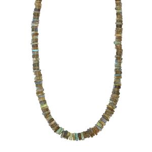 Labradorite Graduated Bead Necklace in Sterling Silver 109cts