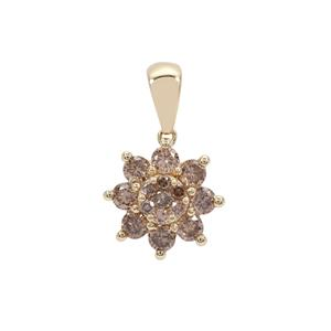 Cape Champagne Diamond Pendant in 9K Gold 0.50ct