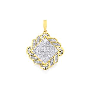 Diamond Pendant  in 10k Gold 1.01cts