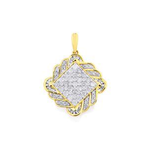 Diamond Pendant  in 10k Gold 1.01cts