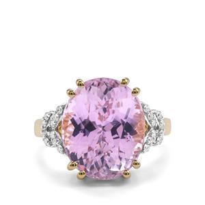 Kolum Kunzite Ring with Diamond in 18K Gold 10.41cts