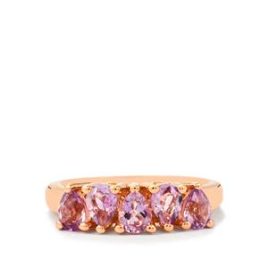 Rose du Maroc Amethyst Ring in Rose Gold Plated Sterling Silver 1.47cts